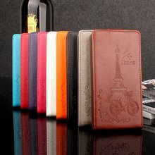 Brand HongBaiwei Cover For Blackview A8 Moblie Case Fashion Embossed Tower Flip Leather Cover Case For Blackview A 8 Coque Funda(China)