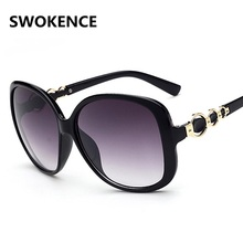 SWOKENCE Hot Selling Name Brand Fashion Designer Lady's Elegant  Sunglasses Women High-end Personality Sunscreen Sun Shades.SA02