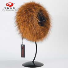 2017 Winter new arrival fox scarf real fox fur ring shawl classic style natural silver fox fur headband hot sale Multicolor