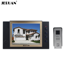 JERUAN 8 inch video door phone high definition mini-camera metal panel with video recording and Photo storage function