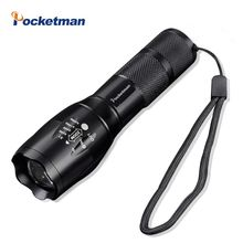 High Bright E17 4500 Lumens CREE XM-L T6 LED Flashlight 5-Mode Zoomable linternas LED Torch by 1*18650 or 3*AAA(China)