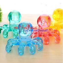 by dhl or ems 100 pcs Portable Crystal Massage Handheld Octopus Massager For Relieving Neck Abdomen Back Muscle Pain