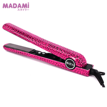 100% Good Quality Ceramic Hair Straightening Flat Iron Straightener LCD Display Technology Alisador Cabelo Flat Leopard Pink(China)