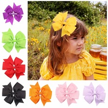 lovely delicate Wraped clip barrettes Children infant hairpins Big Bow Ribbon Hair Accessories