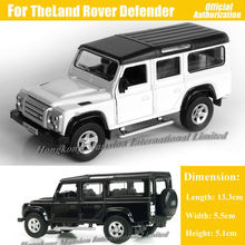 1:36 Scale Diecast Alloy Metal Luxury SUV Car Model For TheLand Rover Defender Jeep Collection Model Pull Back Toys Car