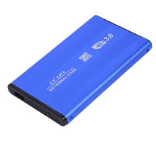 Newest SATA3.0 to USB 3.0 Enclosure Aluminum Alloy Case Sata Notebook External Cover 2.5 inch HDD Hard Drive Cartridge Blue(China)