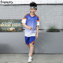 Child survetement football set 2017 cheap football jerseys kids top quality soccer jersey for boys custom soccer uniforms new(China)