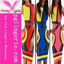 Pink,Blue And Red Hollow Out Sleeveless Bandage Bodycon Dress dress sale nice dresses cheap dresses uk M3821