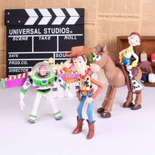 4pcs/set Toy Story 3 Buzz Lightyear Woody Jessie PVC Action Figures Toys Dolls Child Toys Free Shipping(China)
