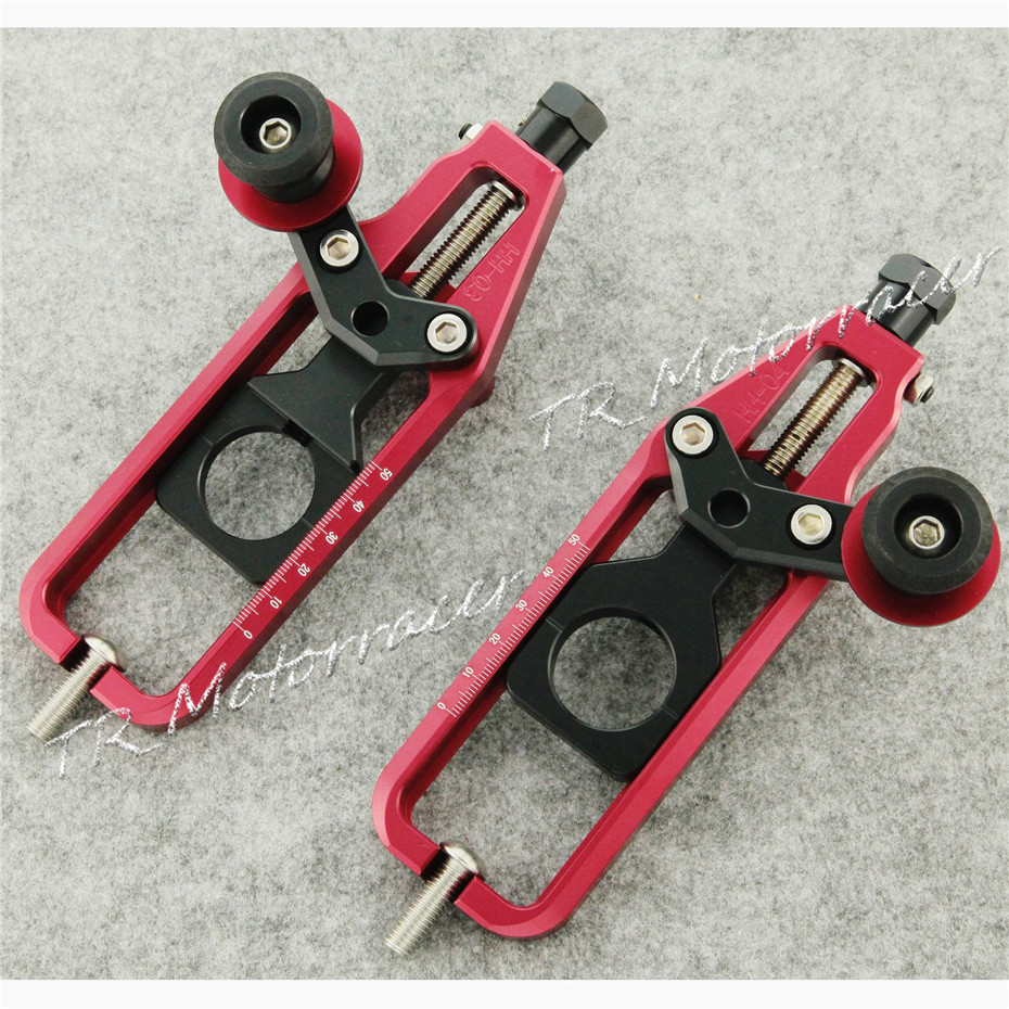 High Quality Motorcycle Aluminum Chain Adjuster For Suzuki GSXR1000 2007 2008 Red<br><br>Aliexpress