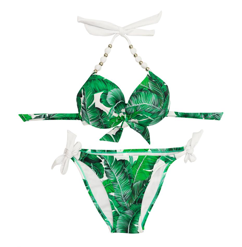 Faerdasi Halter Bikini Set Low Waist Bathing Suits Women Sexy Push Up Beachwear with Tie Side and Center Bow Swimwear Swimsuit 26