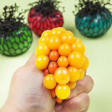 Grape Shape Release Pressure Stress Ball Novelty Squeeze Ball Hand Wrist Exercise Stress For Children Adult 6cm