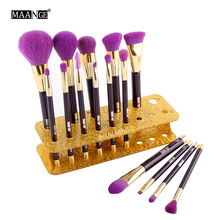 New Arrival Maange Light Clean Easy To Install 15 Can Be Installed Makeup Brush Display Stand 5 Colors(China)