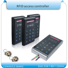Sy-k3 blue LED touch keyboard 125KHZ RFID access control system touch number keyboard support wg26 port+10pcs keyfobs(China)