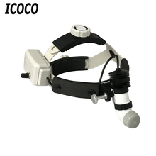 ICOCO 5W LED Surgical Headlight High Power Medical Headlight Dental Head Lamp Adapter Head Mounted Medical Light Remote Control(China)