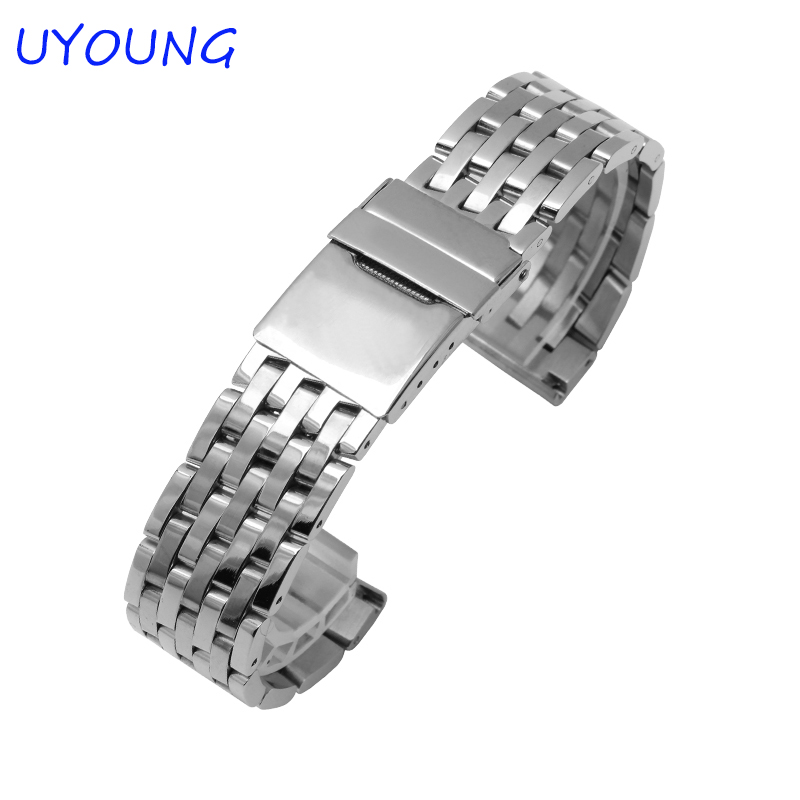 22mm High Quality Stainless Steel watchband Length Long 181mm Silvery Between Gold Watch Strap Strap Bracelet<br><br>Aliexpress