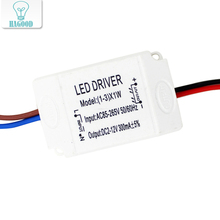 1-3W Plastic Shell LED Light Driver AC90-265V DC2-12V Constant Current 300mA Transformer Power Supply Adapter for Led Lamp DIY