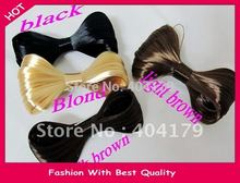 Wholesale and Retail wig hairband bow design hairclip gaga fashion headband for party colors assorted 12pcs/lot(China)