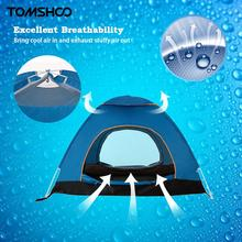 TOMSHOO Outdoor Camping Tent Portable Automatic Pop Up Tent Beach Tent Hiking Backpacking Tent Sun Shelter for 2-3 Person