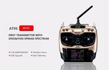 Original Radiolink AT9S R9DS Radio Remote Control System DSSS FHSS 2.4G 10CH Transmitter Receiver for RC Helicopter/RC BOAT(China)