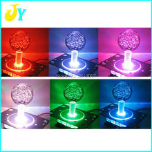 1 pcs  4/8way LED Joystick with Crystal Babble ball top 7colors Illuminated LED fish game /arcade jamma game Joystick