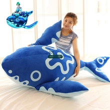 Dorimytrader 165cm Huge Plush Soft Blue Animal Fish Toy Stuffed Large 65'' Cartoon Carp Pillow Baby Present DY61426(China)
