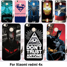 Cases Cover For Xiaomi Redmi 4X 5.0 inch Bags Skin Hard Plastic Soft TPU Cell Phone Housing Spider Man Shell Sheaths