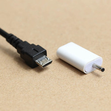 2 pcs Micro USB to   DC2mm plug/jack Charging Adapter For Nokia Mobile Phone