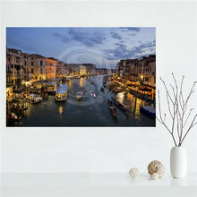 E#627L2 Custom Italy Houses Venice Canvas Painting Wall Silk Poster cloth print DIY Fabric Poster free shipping Y2