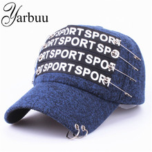 [YARBUU] Baseball Caps 2017 New fashion style high quality Letter winter cap Brand Snapback Hat Men and Women plush caps(China)