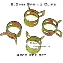 4pcs 8.5mm Steel Band Motorcycle Scooter ATV Fuel Line Hose Tubing Spring Clips Clamps(China)