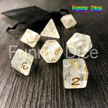 Polyhedral Nebula 7pcs/Set for D&d Game and BAG rpg game dice gift toys d4 d6 d8 d10 d12 d20 dice set white(China)