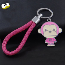 Car Accessories Auto Car Keychain Braided Animal Monkey Key Rings Key Holder For Buick Encore Cadillac Chevrolet Dodge Ram F(China)