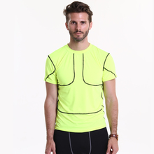 2016 New solid colors Short sleeve T Shirt Fitness Compression Shirt Men  Bodybuilding Crossfit Tops Shirts