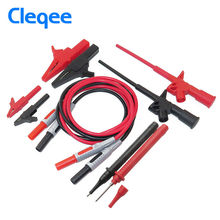 Cleqee P1600B 10-in-1 Electronic Specialties Test Lead kit Automotive Test Probe Kit Multimeter probe leads kit Banana plug(China)