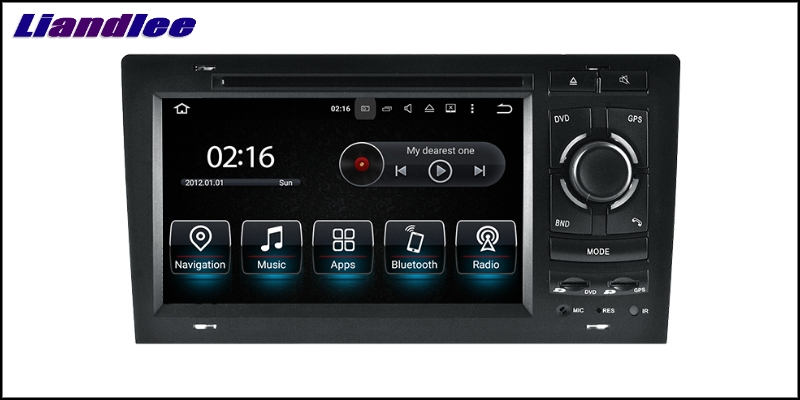 Liandlee Car Multimedia Player NAVI For Audi A8 S8 D2 4D 1994~2003 Car Touch Screen System Radio TV DVD Stereo GPS Navigation 6