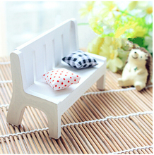 Simulation white furniture chairs,Shooting props, with Pillow, Mini Baby toys 11cm(China)