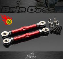 CNC metal steering tie rod power Steering rod for 1/5 HPI KM ROVAN Baja 5b 5T 5SC SS