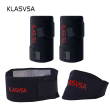 3pcs/set Self-heating Tourmaline Knee Belt Neck Magnetic Therapy Belt For Back Waist Support Brace Massager Tourmaline Products(China)