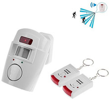 Wireless Remote Controlled Mini Alarm with IR Infrared Motion Sensor Detector & 105dB Loud Siren For Home Security Anti-Theft(China)