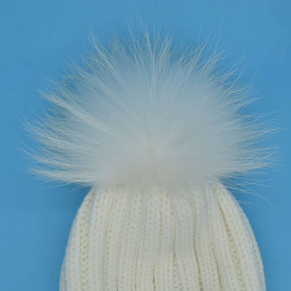 racoon pompom white 3