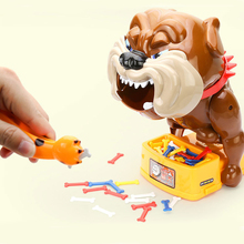 Hot Funny Toys Stealing Bad Dog Bone Best Tricky Toy Play With Kids Shocker Joke Gift For Children Fun Games Indoor Outdoor(China)