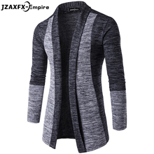 New Arrival Men Patchwork Sweater Fashion Pattern Design Long Sleeve Cardigan Robe Sweater Slim Casual Sweater(China)