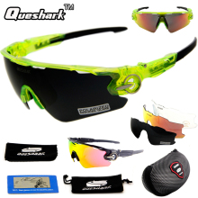 Queshark 2017 Tour Fe France TR90 Polarized Cycling Sunglasses Racing Bicycle Bike Glasses UV Protection Sports Eyewear 3 Lens
