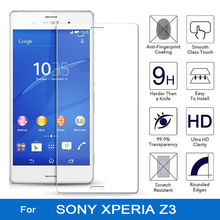Tempered Glass for sony xperia z3 dual d6603 d6643 d6653 d6633 experia z3 z 3 Screen Protector 9H 2.5D front lcd film coque(China)
