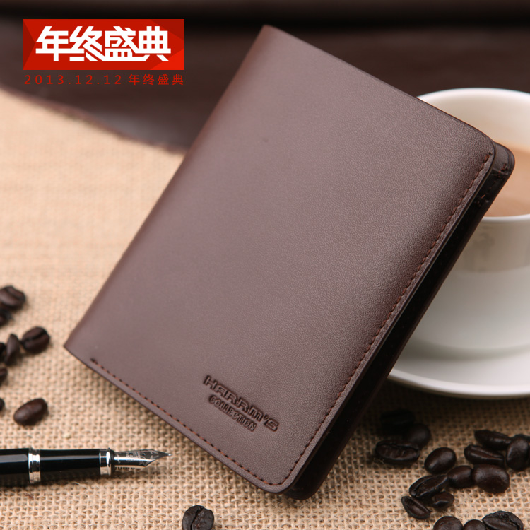 New male short design split leather wallet vertical cowhide card money folder man purse for business/daily gift,free shipping<br>