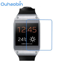 Ouhaobin 5x CLEAR Screen Protector For Samsung Galaxy Gear V700 Smart Wrist Watchs Tempered Glass Screen Protector Film(China)