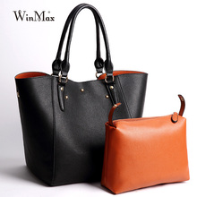 Factory Winmax Luxury Brand Women Large Handbags Solid Patent Leather laptop Shoulder Bag Young Mom gifts Big Tote Wristle Bag(China)