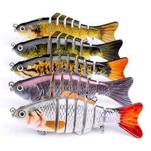 1PCS Fishing Lure Multi Jointed Hard Bait 10cm 19.3g Lifelike joint bait Wobblers 6 Segments Swimbait Fishing Lure Crankbait(China)