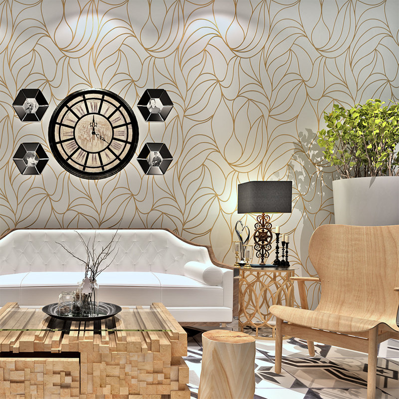 2016 Modern  Long-fiber Nonwoven Paper Bronzing Wallpaper Pearly Lustre QZ0480 home decor improvement papel de parede<br><br>Aliexpress